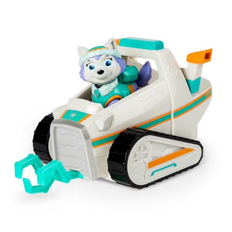 С принтом из мультфильма «Щенячий патруль набор игрушек для Everest трекер фигурку собаки из мультфильма «Щенячий патруль» для дня рождения с рисунком из аниме Рисунок патруль Paw patrulla canina, игрушка в подарок - Цвет: everest