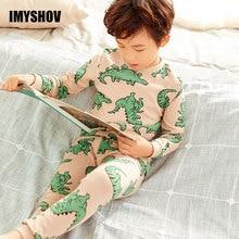 2019 herbst Winter Kinder Dinosaurier Cartoon Pyjamas Für Jungen Nachtwäsche Kinder Pyjamas Lange Hülse Baumwolle Kleinkind Baby Jungen Schlafanzug