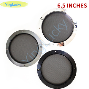 2pcs 6.5 inch Audio Speaker Cover Round Speakers Protective Cover Mesh Net Grille For Loudspeaker DIY Assembly arcade