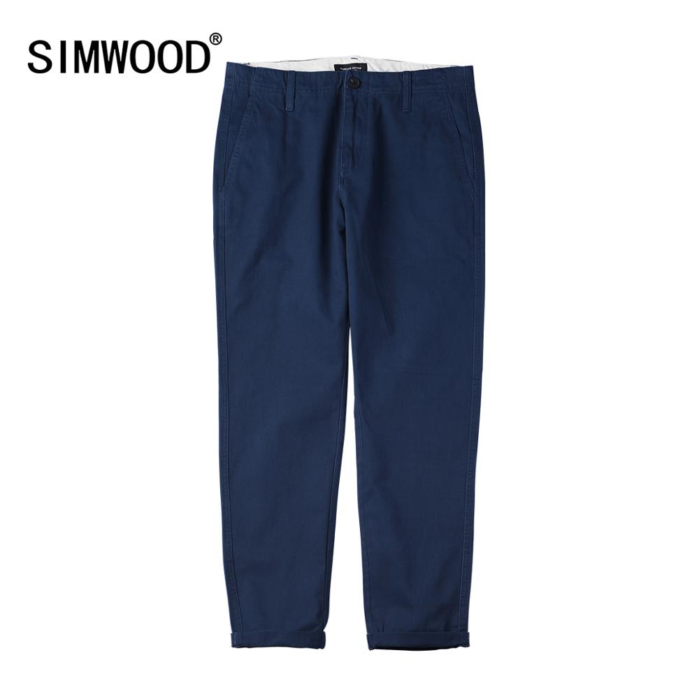 SIMWOOD 2019 Casual Pants Men Long Pants Fashion Straight Slim Autumn Male Trousers High Quality Brand Clothing 4 Colors 180613