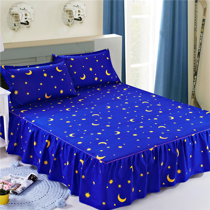 Bedcover Cubrecama, Bedspread Bedclothes, Fashion Cotton Bed Skirts,  Single Sheets,  Colourful Bed Cover 1.8/1.5/1.2 Meters.