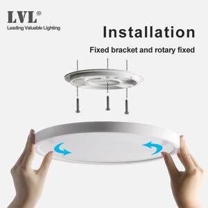 Image 4 - Светодиодная панельная лампа высокой мощности, 36 Вт, 45 Вт, D480, D600, 220 В, домашнее освещение, 5000K, лампы для гостиной, ультратонкая панельная лампа для поверхностного монтажа