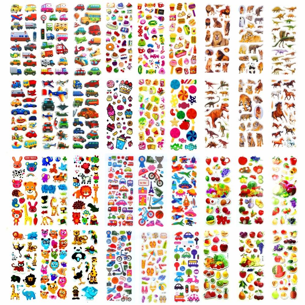 Korea Design Funny Bugs Bubble Stickers for Diary Children Kids Reward Toys ~