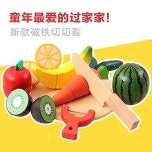 Детские развивающие деревянные фрукты и овощи резка детский игровой дом кухня игрушка