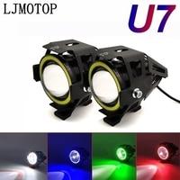 125W Motorrad Scheinwerfer 3000LM Abblendlicht U7 licht LED hilfs Für Kawasaki KLZ1000 Versys W800 Cafe KX65 KX85 KX125| |   -