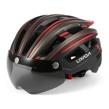 Helmet Visor Motorcycling-Helmet Mountain-Bike Safety Lixada with Back-Light Detachable