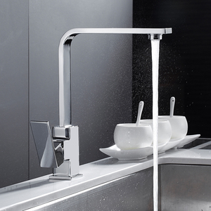 Chrome Square Kitchen Faucet S