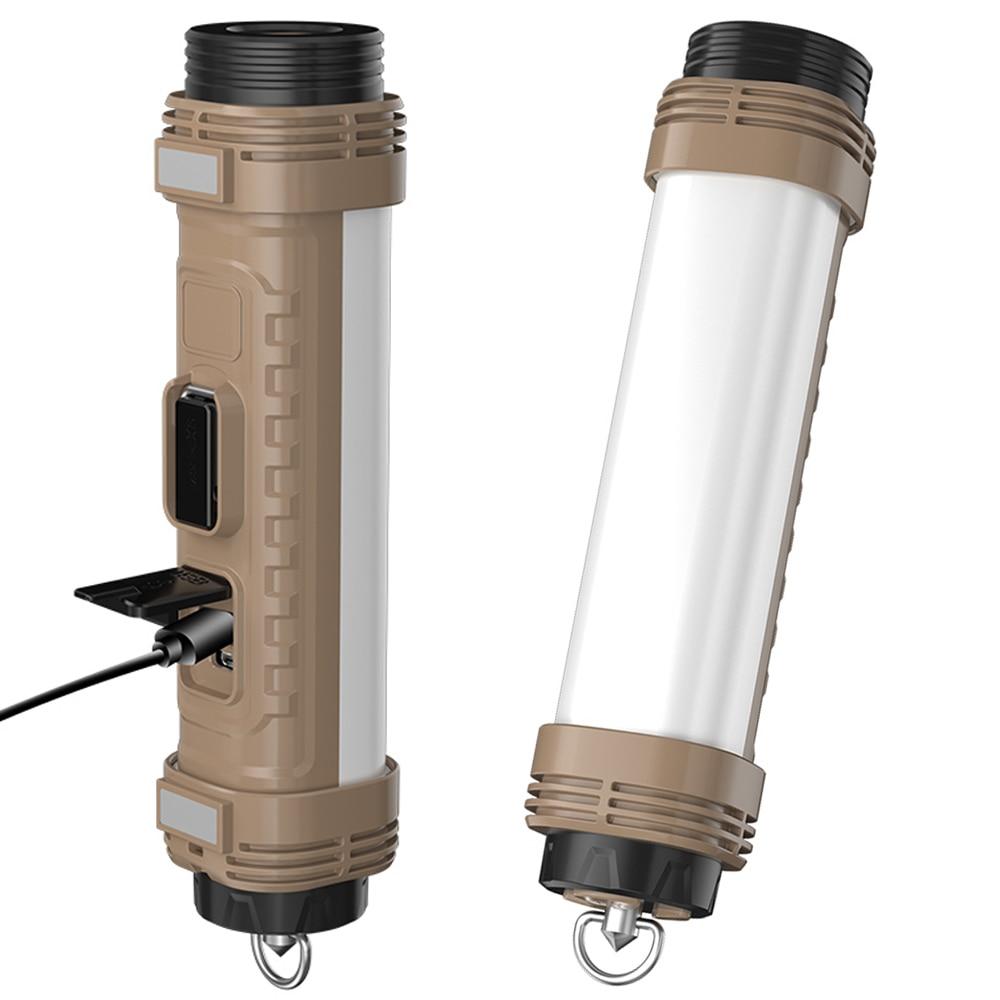 21W COB T6 LED Emergency Flashlight Type C Fast Charging Hunting Torch Magnet Work Light 8Modes Camping Lantern SOS Strobe Alarm