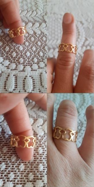 Gold Color Ring 1PCS Stainless Steel BEAR jewelry Fashion Jewelry CLOVER JEWELLERY
