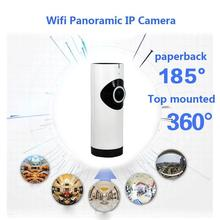 180 градусов объектив 360 глаза IPC WiFi камера панорамная IP камера 720P радионяня