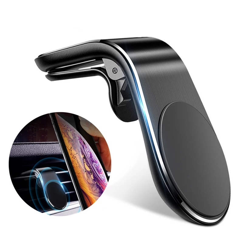 ZEGAR Magnetic Car Phone Holder Air Vent Clip Mount Stand in Car for iPhone Samsung Xiaomi 360 Metal Magnet Mobile Holder