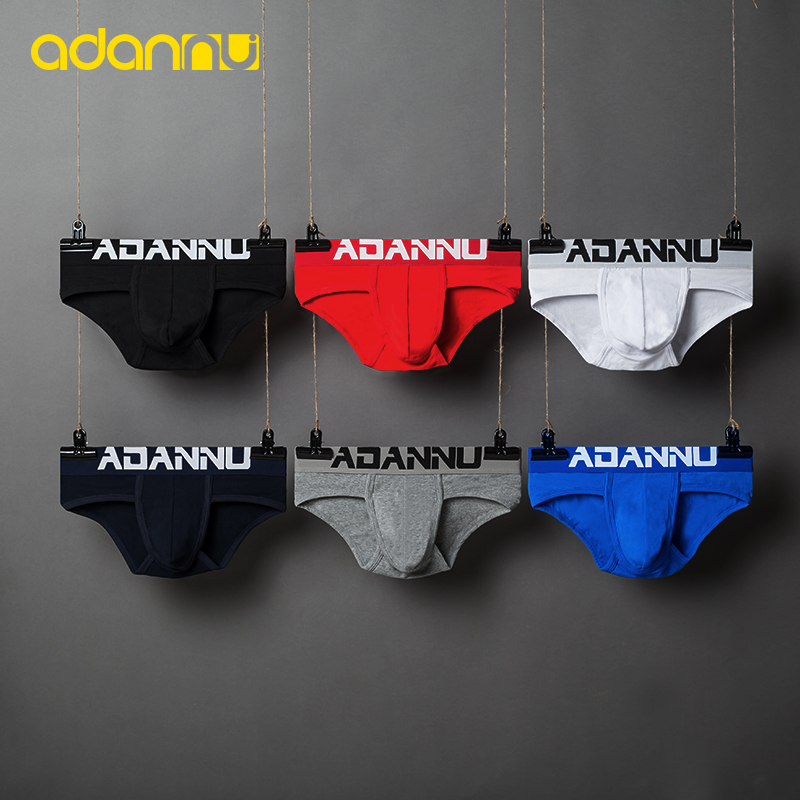 ADANNU Brand Male Underwear Men Briefs Modal Breathable Comfortable Underpants Slip Homme Ropa Interior Hombre Men Briefs Sexy