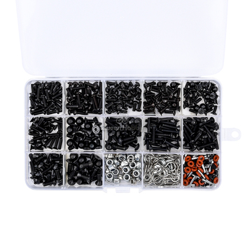 500pcs/lot RC Cars Screws Kits M3/M4/E Buckle/ Shell Buckle/Screw Nuts for Axial SCX10 90046 1:10 HSP/Wltoys/Traxxas image