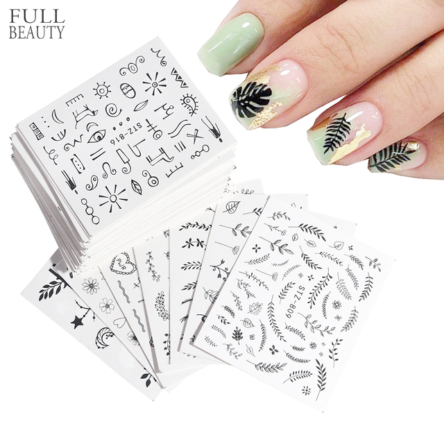 68pcs Flower Rose Nail Sticker Leaf Flora Nail Decals Foil Summer Butterfly Slider for Manicure Nail Art Decoration CHSTZ808-855