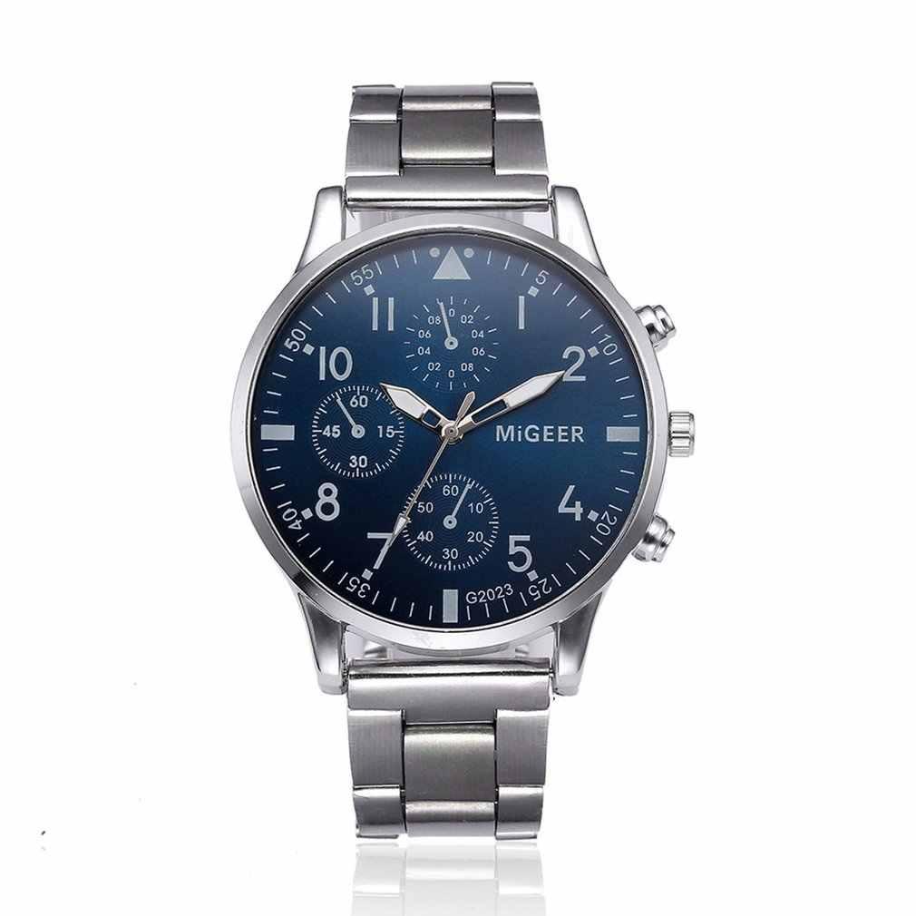 ผู้ชายนาฬิกา Luxus โหมดกีฬาของขวัญสแตนเลสเข็มขัด Quart นาฬิกาข้อมือนาฬิกาธุรกิจ Band