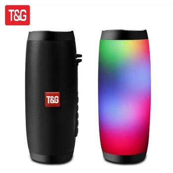 TG157 Wireless Bluetooth Speaker Portable HIFI Speaker Hi-Res Audio Extended Bass and Treble Support TF FM Radio with LED Light image