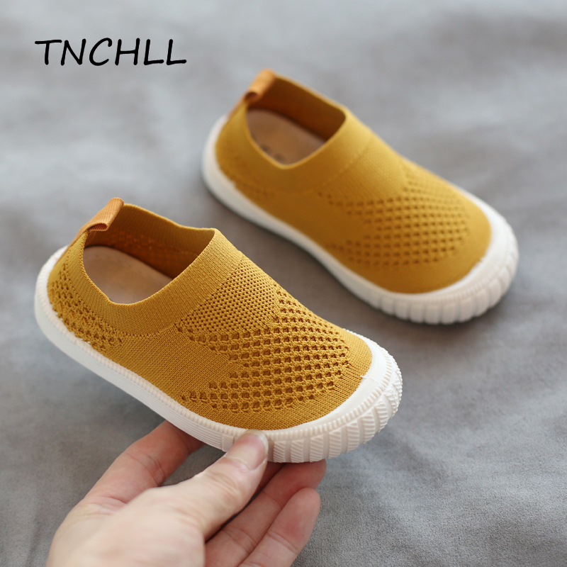 Baby Knitting Shoes Breathable Infant Toddler Shoes Girls Boy Casual Mesh Shoes Soft Bottom Comfortable Non-slip Shoes NSE7345