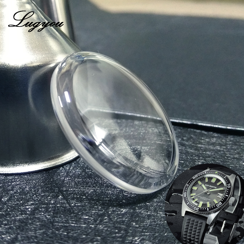 Lugyou San Martin 4.7mm Thick Double Domed Sapphire Crystal Diameter 32mm Concave Bubble Glass For 62Mas SN007 Watch AntiScratch