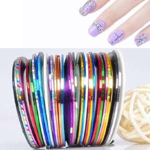 10/20/30 Colors Nail Art Striping Tape Set Glitter Multi-color Adhesive Line Stickers Manicure Nail Art Decoration