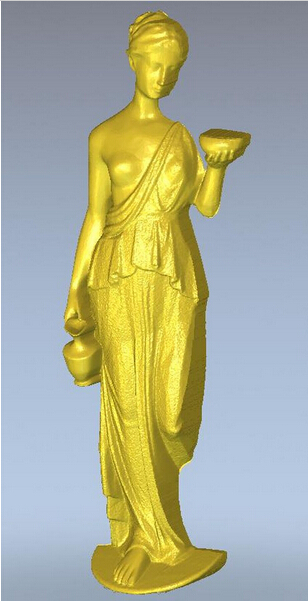3d model relief for cnc in STL file format Girl with cup --26
