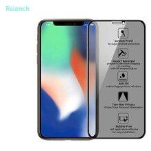 Rsionch 9 h 개인 정보 보호 강화 유리 iphone 11 pro max 11 xr xs max 11 pro iphone 7 8 plus anti peeping glass