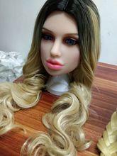 セックス人形ヘッド高さのためのシリコーン愛人形ヘッドと新大人のおもちゃ男性本物の人形ヘッド