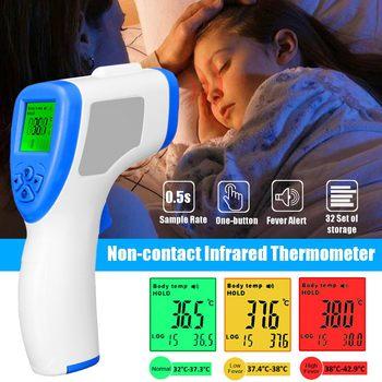 4Type Muti-fuction Digital Termomete Infrared Forehead Body Thermometer Guns Non-contact Temperature Measurement in stock