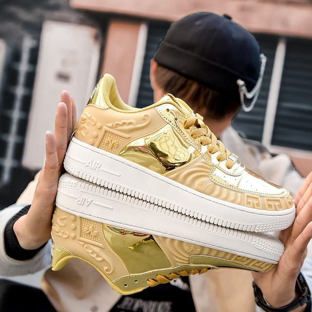 Zapatillas de deporte altas suaves, cómodas y transpirables, zapatos informales antideslizantes resistentes al desgaste para exteriores, nuevo estilo 2