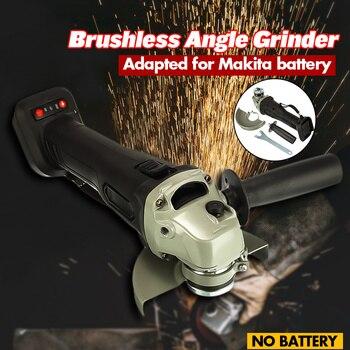 125mm Brushless Cordless Impact Angle Grinder Head Tools Kit Polishing Machine Angular Finishing Grinder For Makita Battery