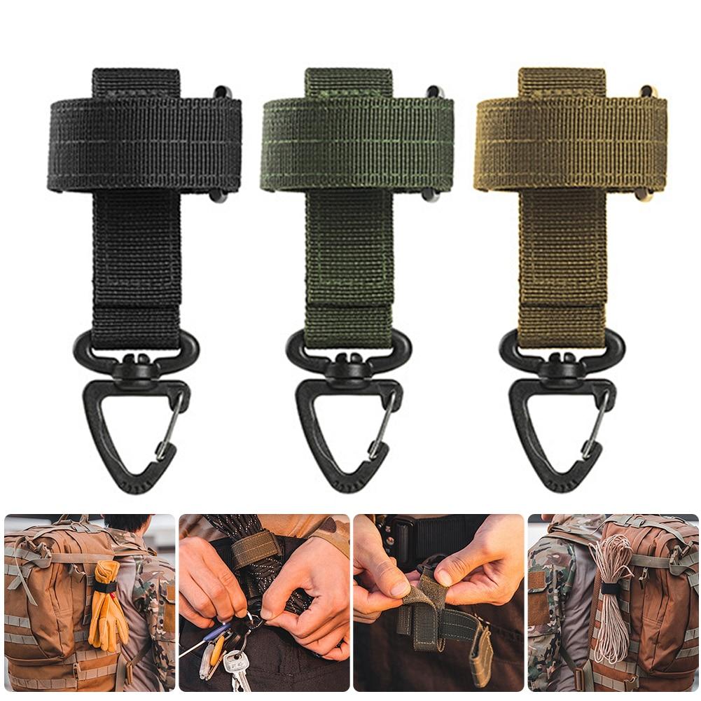 Открытый многоцелевой перчатки крюк Кемпинг веревка для хранения пряжкой Molle Аксессуары тактический подвесная Пряжка перчатка для кемпинг...