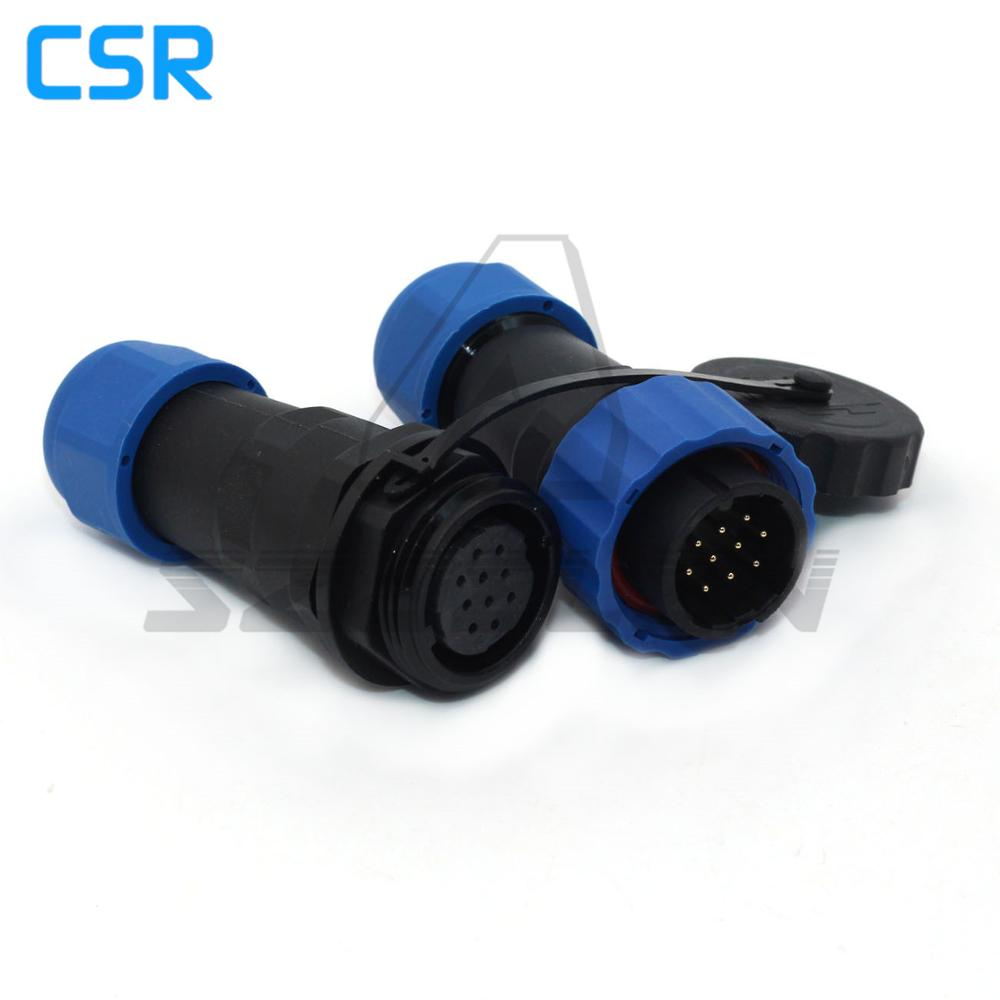 SD20 Type 10 pin Aviation Wire Connector Male and female Plug Socket Waterproof Connector IP67 image