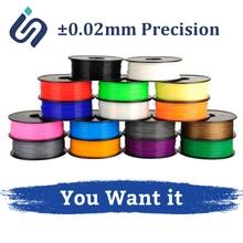 3D Printer PLA Filament 1.75mm 1KG High Precision ±0.02mm 1kg/0.5kg ABS/PLA 3D Printer Filament