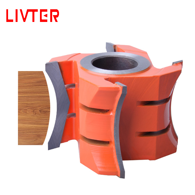 LIVTER Tungsten Carbide Blade Spiral Wood Shaper Cutters For Moulder Machine Woodworking Tool Thickness 4 Flutes