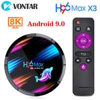 H96 MAX X3 Android 9,0 TV Box 4GB 128GB 32GB 64GB Amlogic S905X3 Quad core Wifi 8K Youtube Google store H96MAX medios Set top box