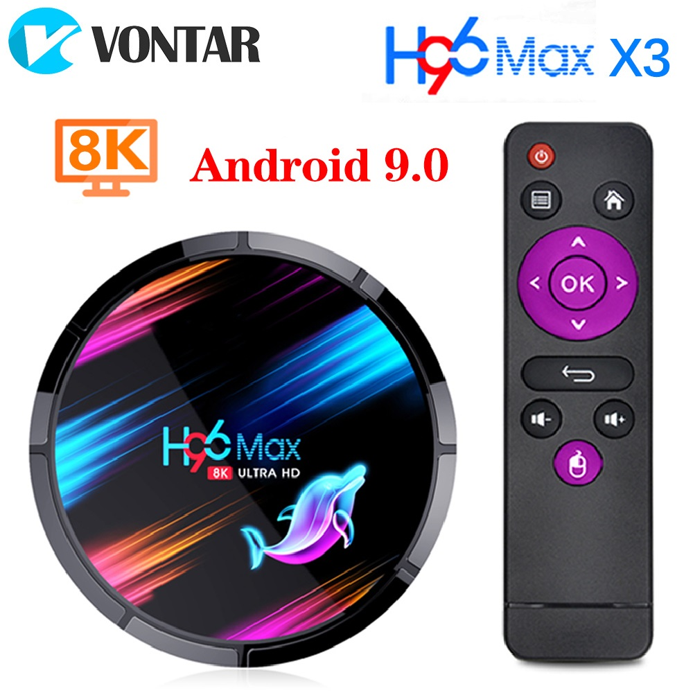 H96 MAX X3 Android 9.0 TV Box 4GB 128GB 64GB 32GB Amlogic S905X3 Quad Core Wifi 8K Youtube Google Store H96MAX Media Set Top Box
