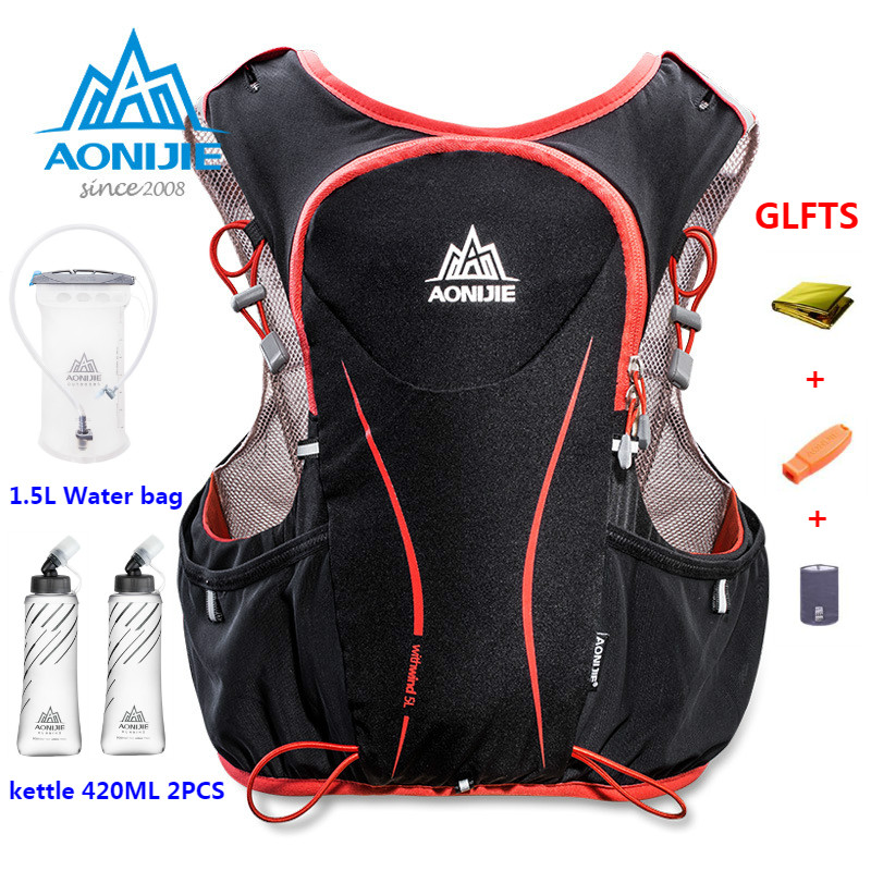 AONIJIE 5L Women Bag Men Marathon Hydration Vest Pack For 1.5L Water Bag Cycling Hiking Bag Outdoor Sport Running Backpack
