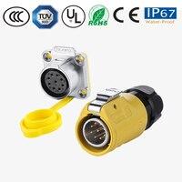 9 핀 ip67 패널 방수 전원 커넥터 pastic 및 금속 플러그 소켓 자동차/오디오 커넥터 패널/배선 터미널 커넥터|커넥터|등 & 조명 -