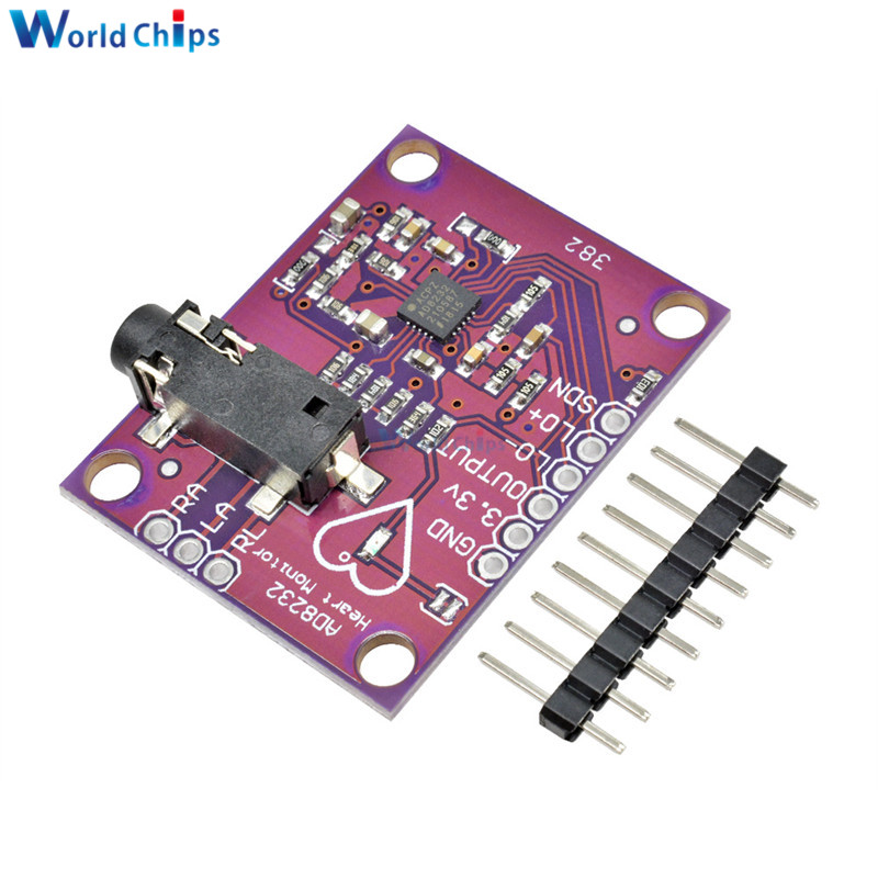 AD8232 <font><b>ECG</b></font> Physiological Measurement Heart Pulse <font><b>ECG</b></font> Monitor Sensor Module Single Lead Heart Rate Monitor Diy Kit for <font><b>Arduino</b></font> image