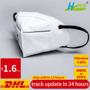 Disposable KN95 anti virus dust proof face mouth mask Mascherine Mascarillas 95% Filtration ≥ mask FFP2 not FFP3 work respirator