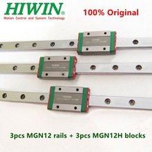 Parts Mgn12h-Block Rail-Mgn12 MGNR12 Hiwin 350 for 3d-Printer Cnc 3pcs 200-250 410 400