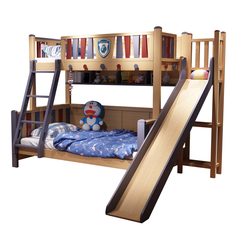 Children Wooden Bunk Bed Kids Double Bed With Slide Wooden Double Bed For Kids Bedroom Sets Aliexpress