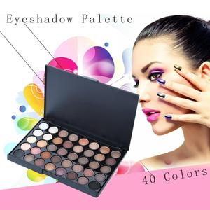 Профессиональный косметический 40 цветов матовые тени для век Палитра водостойкие тени для век женский макияж мерцающие тени для век набор