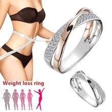 Abnehmen Magnetic Ring Gewicht Verlust Gesundheit Pflege Fitness Schmuck Brennen Gewicht Design Öffnung Therapie Verlieren Mode X