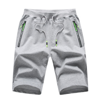 Men's knitted Capris Summer new casual shorts cotton youth sports pants loose large shorts men's pants Casual Male Sports Shorts 2