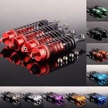 ENRON-Amortiguador delantero de Metal y aluminio 4P para coche de control remoto, muelle de 72-90mm, trasero de 80-102mm, Traxxas Slash 4x4 2wd, 1/10