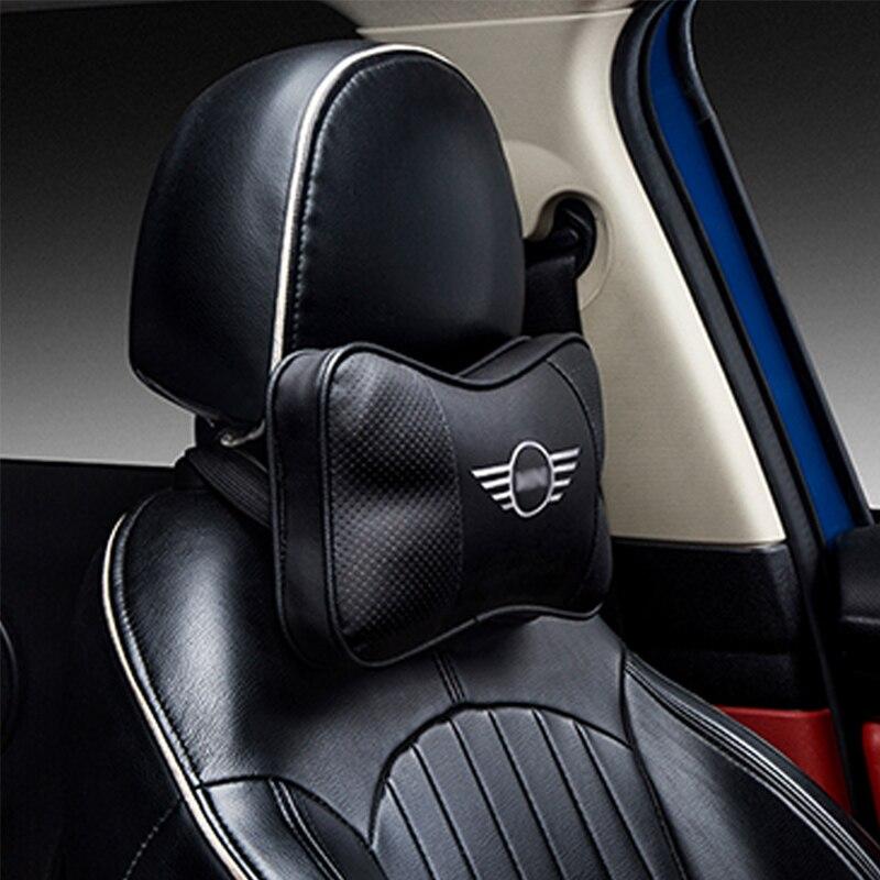 Car Memory Cotton Logo Headrest For BMW MINI CLUBMAN COUNTRYMAN COOPER S F54 F55 F56 F57 F60 R55 R56 R57 R60 Rest Neck Pillow