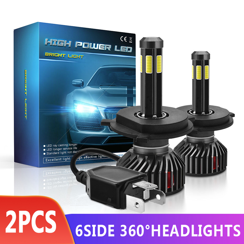 2Pcs Car headlight <font><b>H7</b></font> H8 H11 <font><b>LED</b></font> Bulbs H4 <font><b>LED</b></font> H1 H8 H11 Headlamps Kit 9005 HB3 9006 HB4 9012 For Auto 12V <font><b>LED</b></font> <font><b>Lamp</b></font> <font><b>55W</b></font> image