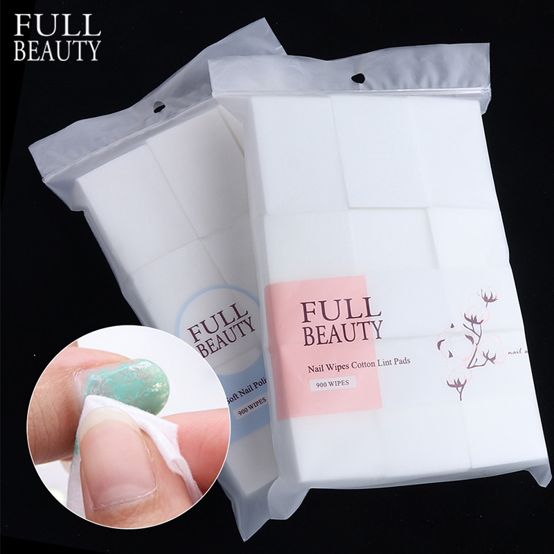 Full Beauty Nail Polish Remover Wraps Pure Cotton Paper Wipe Degreaser Pads Soak Off Lint-Free Napkins For Manicure Tools CH1543