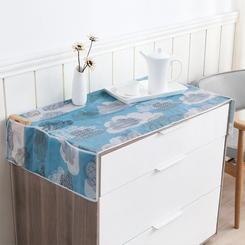 1pc Waterproof Fridge Dust Cover Household Freezer Top Bag Fridge 130*55cm PEVA Refrigerator Storage Bag Kitchen Supplies