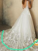 Custom Make Lace V neck Wedding Dress